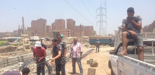 ضبط حالة بناء مخالفة بحي شرق شبرا الخيمة