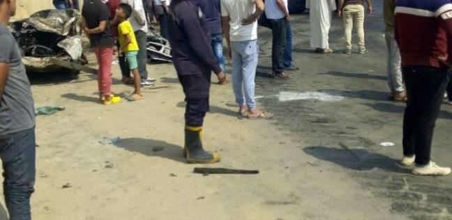 إصابة 4 أشخاص في حادث اصطدام ميكروباص برصيف في العاشر من رمضان