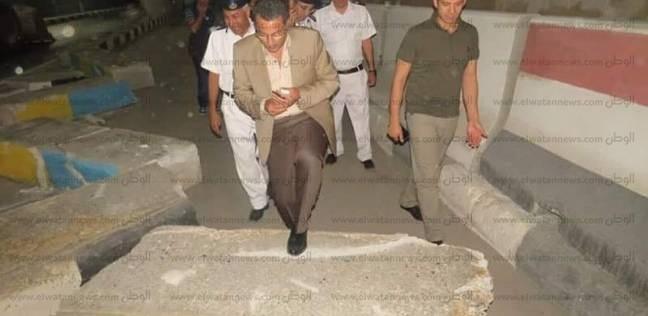 مدير أمن الإسماعيلية يترأس حملة لإزالة الحواجز أمام مديرية الأمن