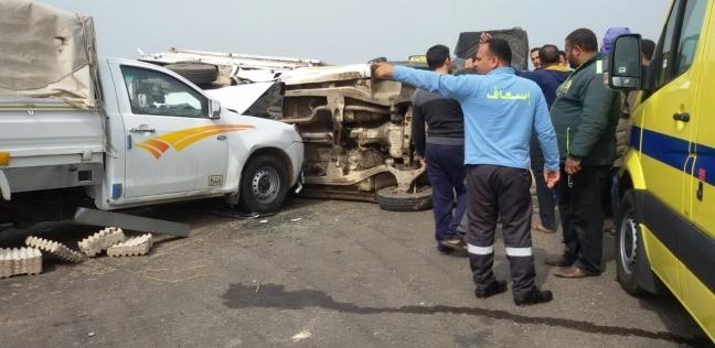 مصرع 8 وإصابة 48 بينهم «4 كنديين» إثر حوادث مرورية فى 5 محافظات
