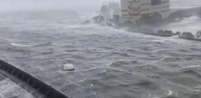 """رئيس """"الأرصاد الجوية"""": ارتفاع إعصار اليابان أعلى من """"3 أدوار"""""""