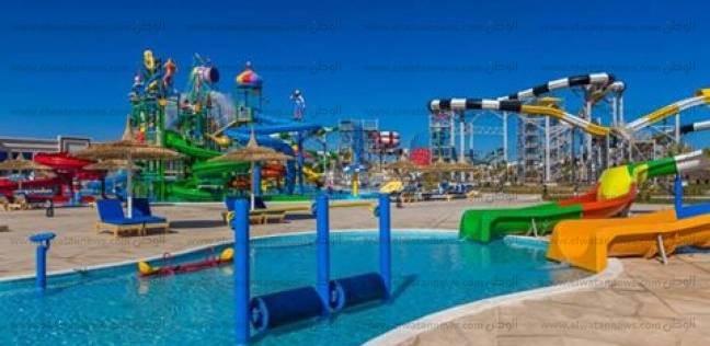 بالصور  افتتاح أكبر منتجع للألعاب المائية بمدينة شرم الشيخ