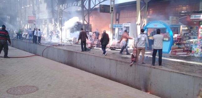 النيابة تعاين موقع حريق محطة مصر.. وتناظر جثث الضحايا