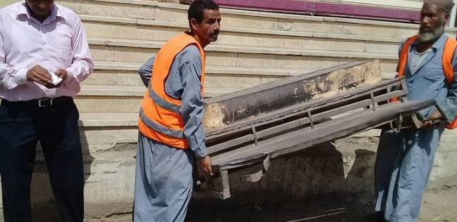 إزالة 145 إشغال وتحرير 9 محاضر بمركز دير مواس بالمنيا