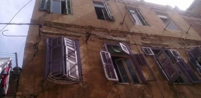 انهيار عقار بوسط الإسكندرية دون حدوث إصابات