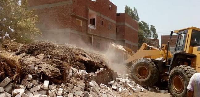 إزالة 126 حالة تعد على أراضي أملاك دولة في القناطر الخيرية