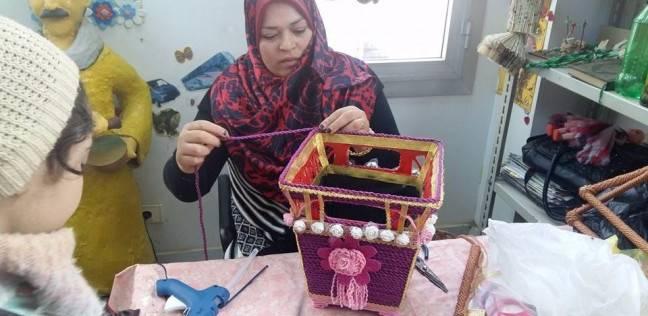 بالصور.. ورشة أعمال يدوية لذوي الاحتياجات الخاصة بالمنوفية