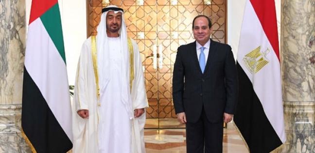 ولي عهد أبوظبي يغادر القاهرة بعد لقاء السيسي