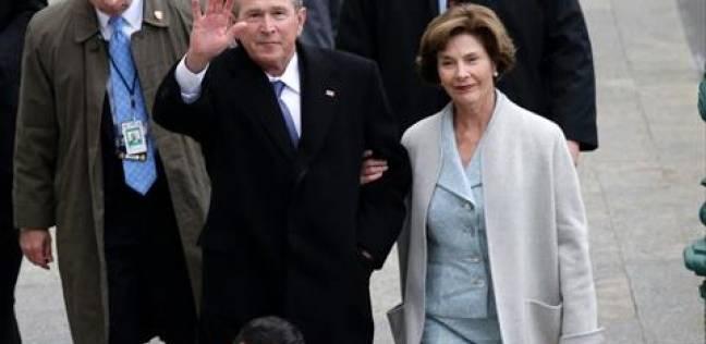 """بالصور  وصول جورج بوش وزوجته لـ""""الكابيتول"""" لحضور مراسم تنصيب ترامب"""