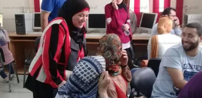 بالصور| معامل تنسيق كفر الشيخ تستقبل 120طالبا في اليوم الثالث