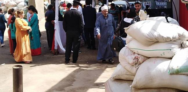 توافد المواطنين على لجنة الجبرتي في منشأة ناصر للتصويت