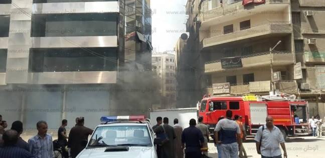 السيطرة على حريق هائل في مخزن شنط بباب الشعرية