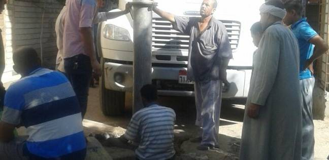 """""""مياه الفيوم"""": جار تطهير شبكة الصرف الصحي بإطسا من الرواسب"""