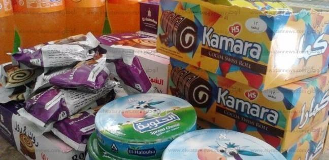 ضبط 249 عبوة مواد غذائية منتهية الصلاحية في براني بمطروح