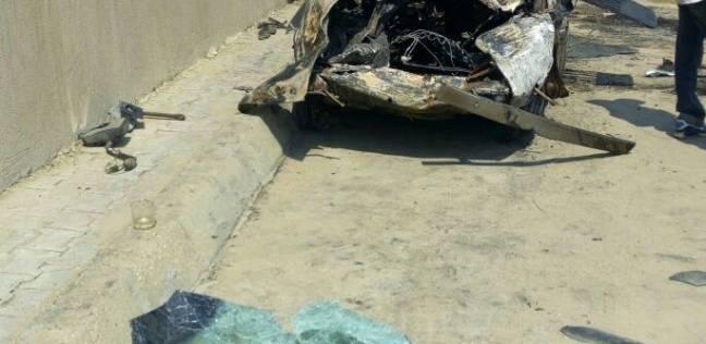 إصابة 4 في حادث تصادم بصحراوي المنيا