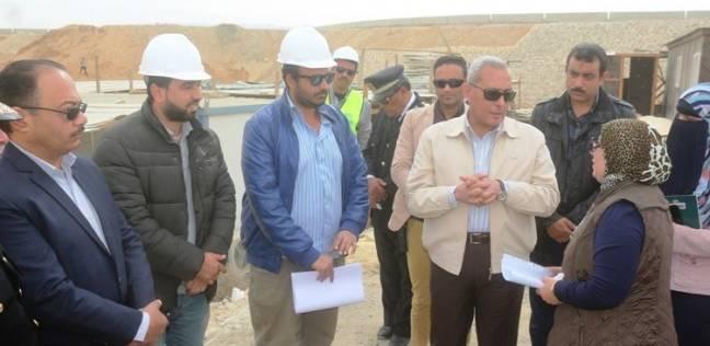 محافظ السويس يتفقد أعمال إنشاءات كوبري الجيش المصري