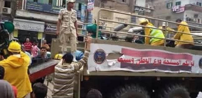 بالصور| قوات الجيش تصل كفرالدوار بعد عجز الحماية المدنية عن إنقاذ المدينة من السيول