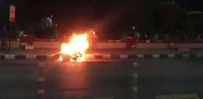 إصابة شخصين إثر انفجار دراجة نارية في حادث انقلاب بالسويس