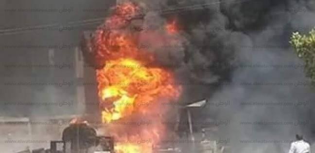 """""""الحماية المدنية"""" بالمنوفية تسيطر على حريق هائل بمصنع سيراميك بقويسنا"""