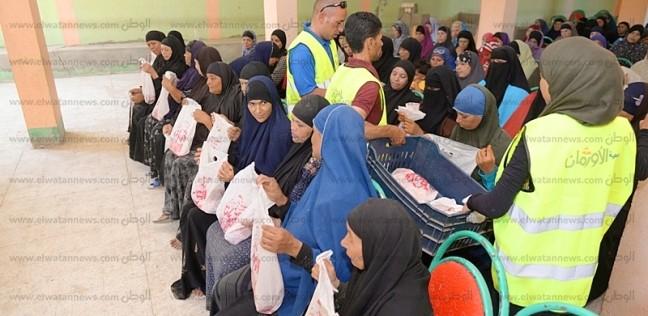 الأورمان توزع 56 ألف كيلو لحوم على الأسر الفقيرة ببني سويف