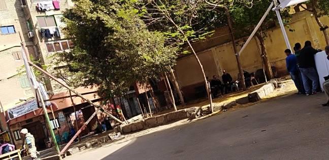 """حضور القضاة لفتح باب لجان """"منشأة ناصر للتصويت باليوم الثاني للانتخابات"""