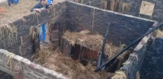 تسكين 4 أسر احترق منزلهم بمدرسة عرب زيدان في الدقهلية