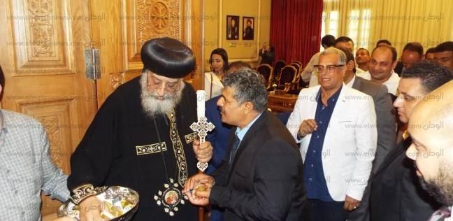 بالصور| تواضروس يستقبل ممثلي لجنة إدارة الأزمات في الكاتدرائية