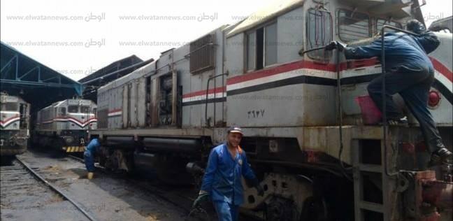 """""""السكك الحديدية للخدمات"""": بدء تعقيم ومكافحة الحشرات بعربات القطارات"""
