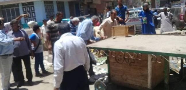 إزالة 180 حالة إدارية خلال حملة ببني مزار بالمنيا