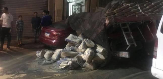 بالصور| هبوط أرضي بشارع محمد فؤاد في الإسكندرية