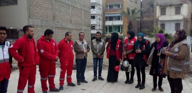 فريق الهلال الأحمر في دمياط ينظم جولة لفرع بورسعيد لتبادل الخبرات