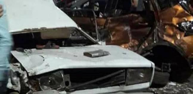 إصابة شخصين في تصادم سيارة بدراجة نارية بالسويس