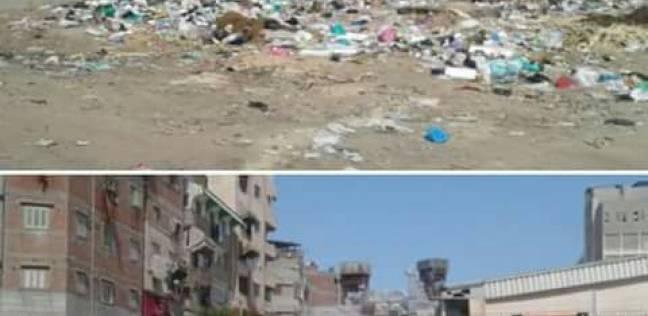 تكثيف أعمال النظافة وتنظيفالخرابات من القمامة بالحي الخامس في دمياط