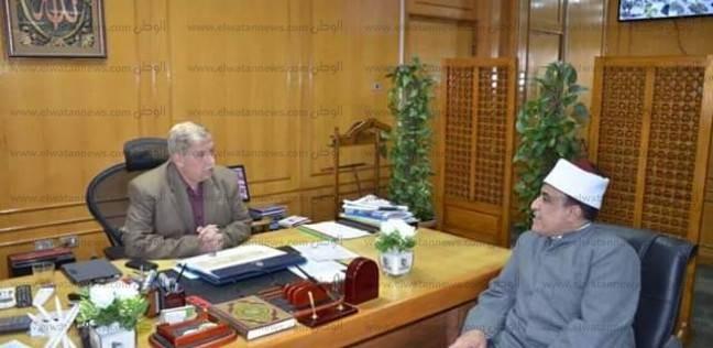 محافظ الإسماعيلية يستقبل رئيس الإدارة المركزية للمنطقة الأزهرية