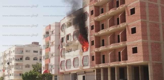 بالصور| اختناق طفل إثر حريق بشقة سكنية في الغردقة