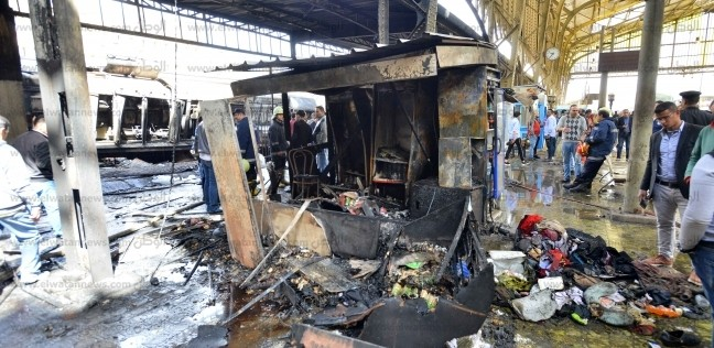 وزير الطيران المدني ينعى ضحايا حريق محطة مصر