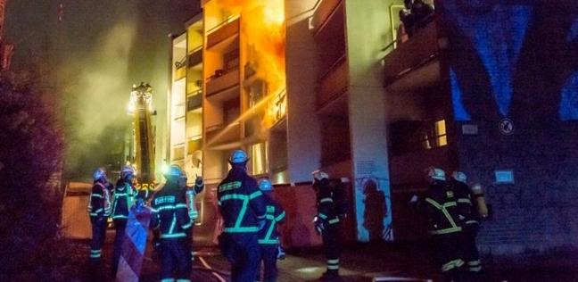 شاب يشعل النار فى عمارته السكنية ويقتل خمسة من جيرانه بسبب تأخر راتبه