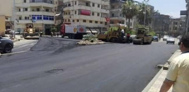بدء أعمال رصف ورفع كفاءة بعض المناطق بمدينة دمياط