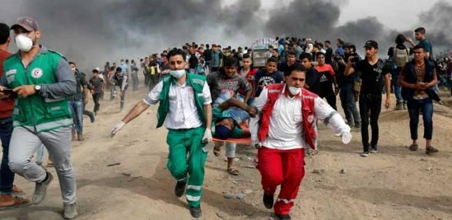 ارتفاع عدد ضحايا اعتداءات الاحتلال على حدود غزة إلى شهيدين و156 مصابا