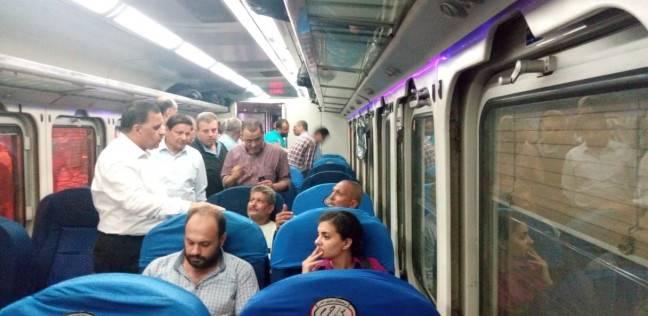 عودة حركة القطارات بعد توقفها ساعتين بسبب عطل في قطار المنيا