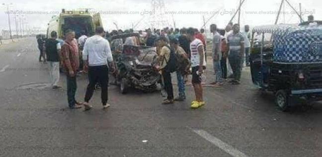 بالأسماء| إصابة 5 في انقلاب سيارة نصف نقل علي طريق جمصة