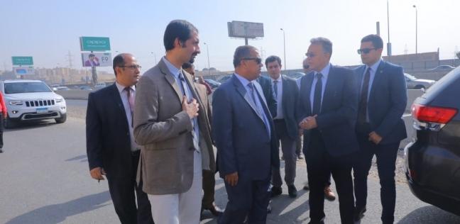 """""""عرفات""""يتابع مشروع حماية الطريق الدائري من الأمطار والسيول"""