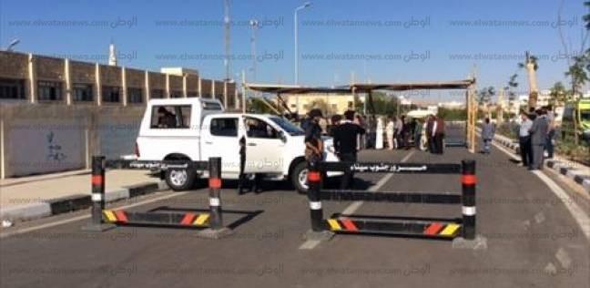 كردون أمني حول اللجنة العامة المشرفة على الانتخابات بمدينة السلام