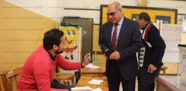 رئيس جامعة كفر الشيخ يدلي بصوته في الاستفتاء على تعديلات الدستور