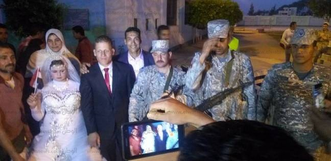 عروسان بالبحيرة يدليان بصوتيهما في انتخابات الرئاسة