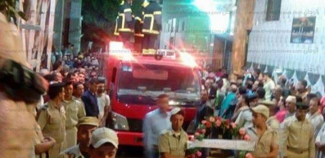 آلالاف يشيعون جثمان شهيد سيناء أمين شرطة محمد عبد العظيم بالمنوفية