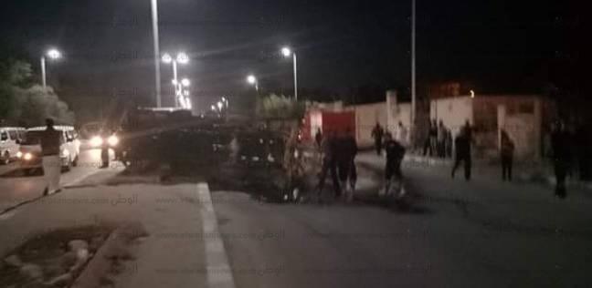 إصابة 15 عاملا في انقلاب سيارة ربع نقل بالطريق الإقليمي بالفيوم