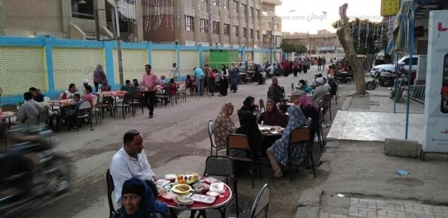 """""""رسالة"""" تنظم مأدبة إفطار جماعي لـ500 أسرة جنوبي بني سويف"""