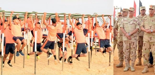 صور  وزير الدفاع يتفقد عددا من الأنشطة التدريبية لقوات التدخل السريع