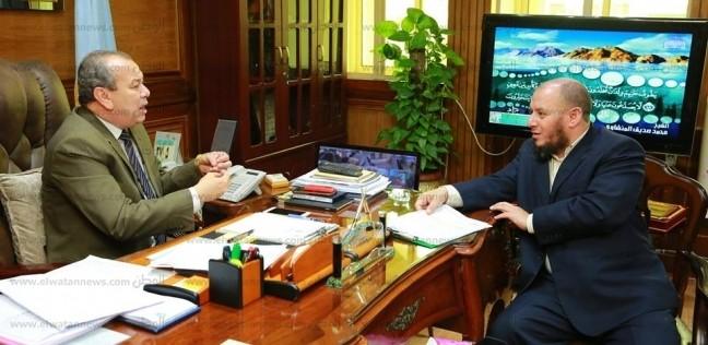 """محافظ كفر الشيخ يبحث مع """"نائب البرلس"""" مشاكل وطلبات مواطني المدينة"""